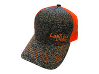 Limitless Snap Back Cap Heather Grey and Orange