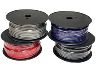 Limitless Lithium 8 Gauge Silver Tinned OFC Power Wire - 150' Spool