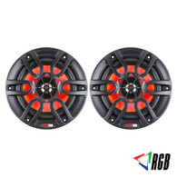 "DS18 HYDRO 8"" 2-WAY MARINE SPEAKERS WITH INTEGRATED RGB LED LIGHTS 375 WATTS MATTE BLACK (PAIR)"