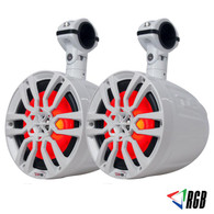 """DS18 NXL-8UTV HYDRO 8"""" SLIM WAKEBOARD POD TOWER SPEAKER WITH INTEGRATED RGB LED LIGHTS 375 WATTS (PAIR)"""