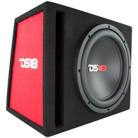"DS18 BASS PACKAGE 12"" SUBWOOFER IN MDF ENCLOSURE WITH AMPLIFIER AND INSTALLATION KIT 650 WATTS LOADED"