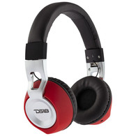 DS18 OVER EAR FOLDABLE, WIRED HEADPHONE WITH MICROPHONE/BLACK AND RED