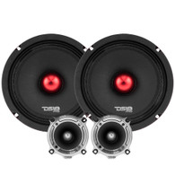 "DS18 HIGH WATTAGE MID AND HIGH RANGE PACKAGE EXTREMELY LOUD PRO AUDIO 6.5"" COMPONENT SET"