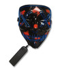 EL Wire Ghost Mask Slit Mouth Light Up Glowing LED Mask Halloween Cosplay Glowing Blue