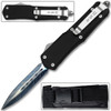Full Size Dagger Point OTF Knife Out The Front Assisted Open Tactical Glass Breaker