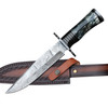 Right Hand of Artemis Damascus Steel Fixed Blade Hunting Knife