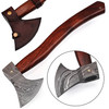 Icelander's Saga Functional Exceptional Quality Damascus Steel Outdoor Axe