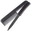 Secure Cosmetics Stealth Comb Knife Black