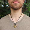 Take the Bull by the Horns Brass Necklace