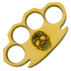 Dalton 10 Ounce Real Brass Knuckles Buckle Paperweight - Skull Black