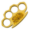 Dalton 10 OZ Real Brass Knuckles Heavy Duty Buckle Paperweight - Mad Dog Red