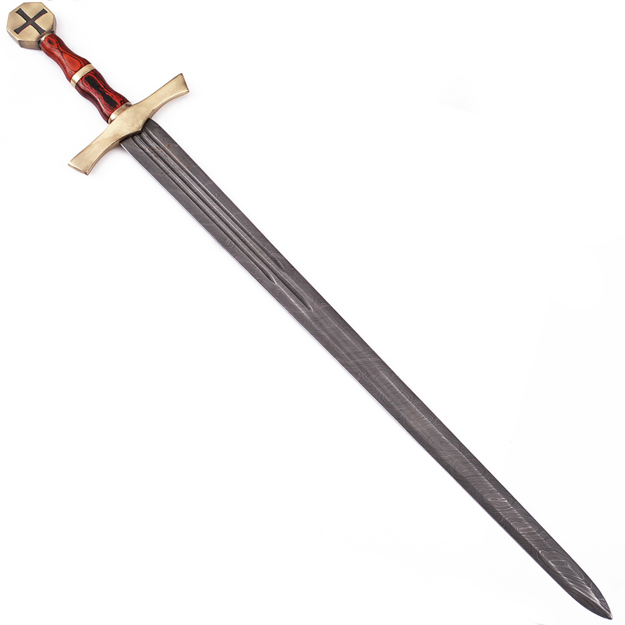 Descendent of the Holy Knights Damascus Steel Templar Knight Sword