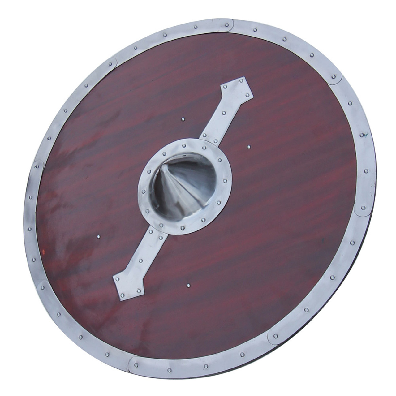 Handcrafted Viking LegacyWooden Battle Shield
