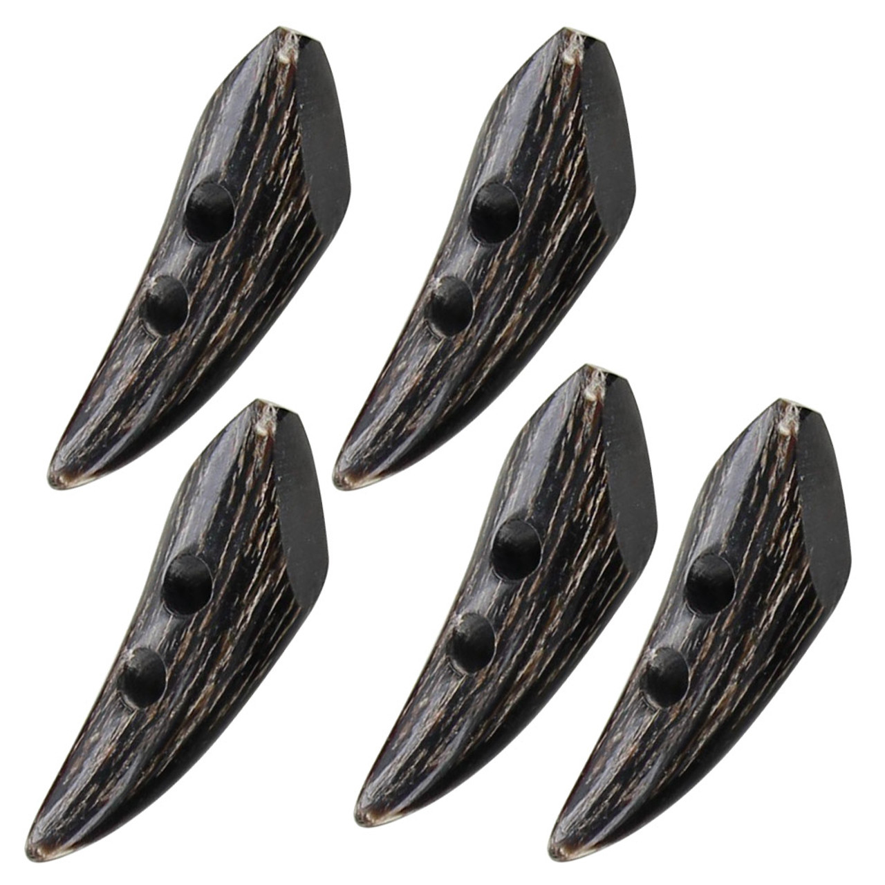 Distressed Period Fashion All Natural Horn Toggle Set