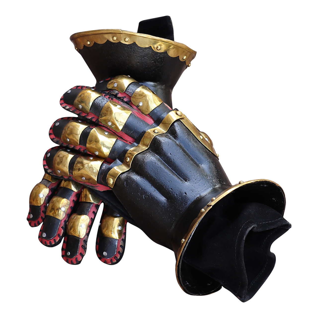 Armory Replicas 'Ñ¢ The Cursed Black Knight Functional Medieval Armor Gauntlets