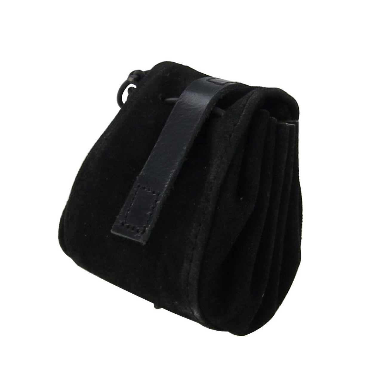 Pirates Treasure Keeper Black Suede Leather Pouch