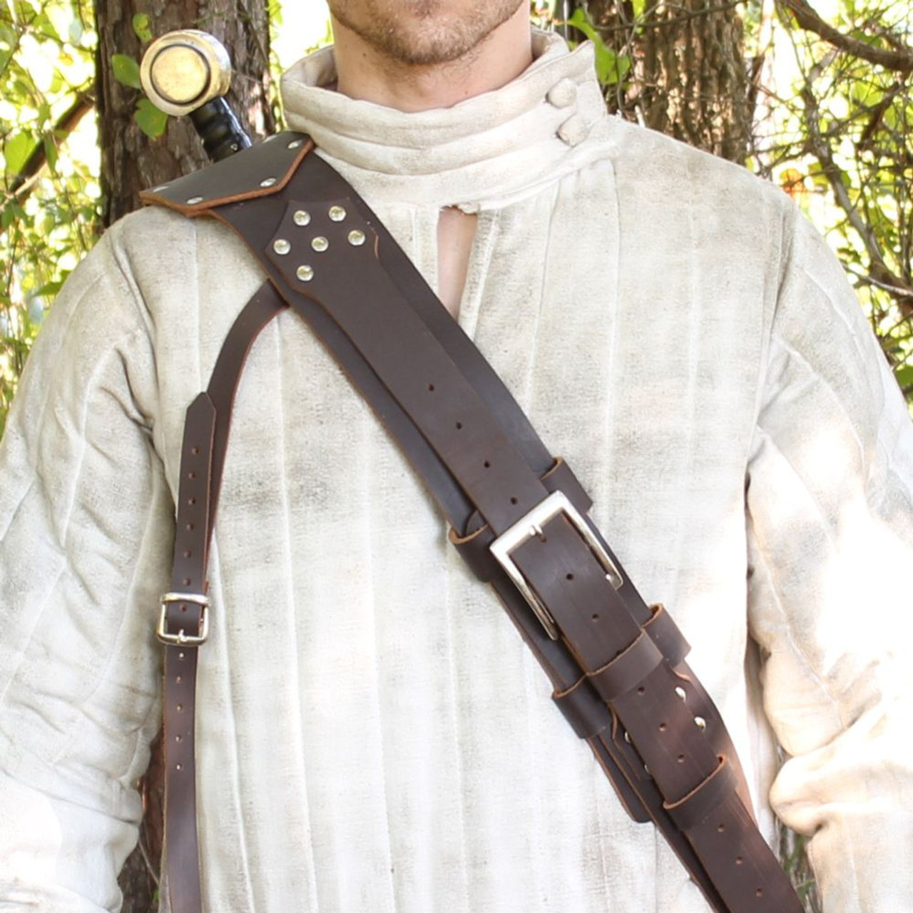 Cheshire Knights Authentic Leather Baldric