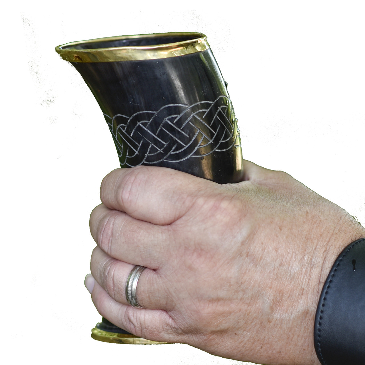 The Hooded Raven 'Ñ¢ Ceremonial Viking Drinking Horn Cup Canvas Bag Included