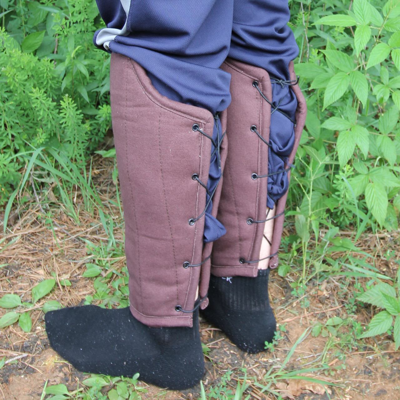 Medieval Flank Attack Padded Greaves Armor