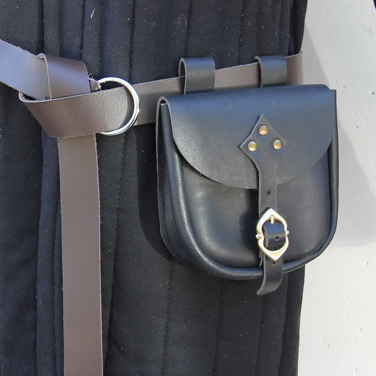 Hundred Years Leather Medieval Belt Pouch
