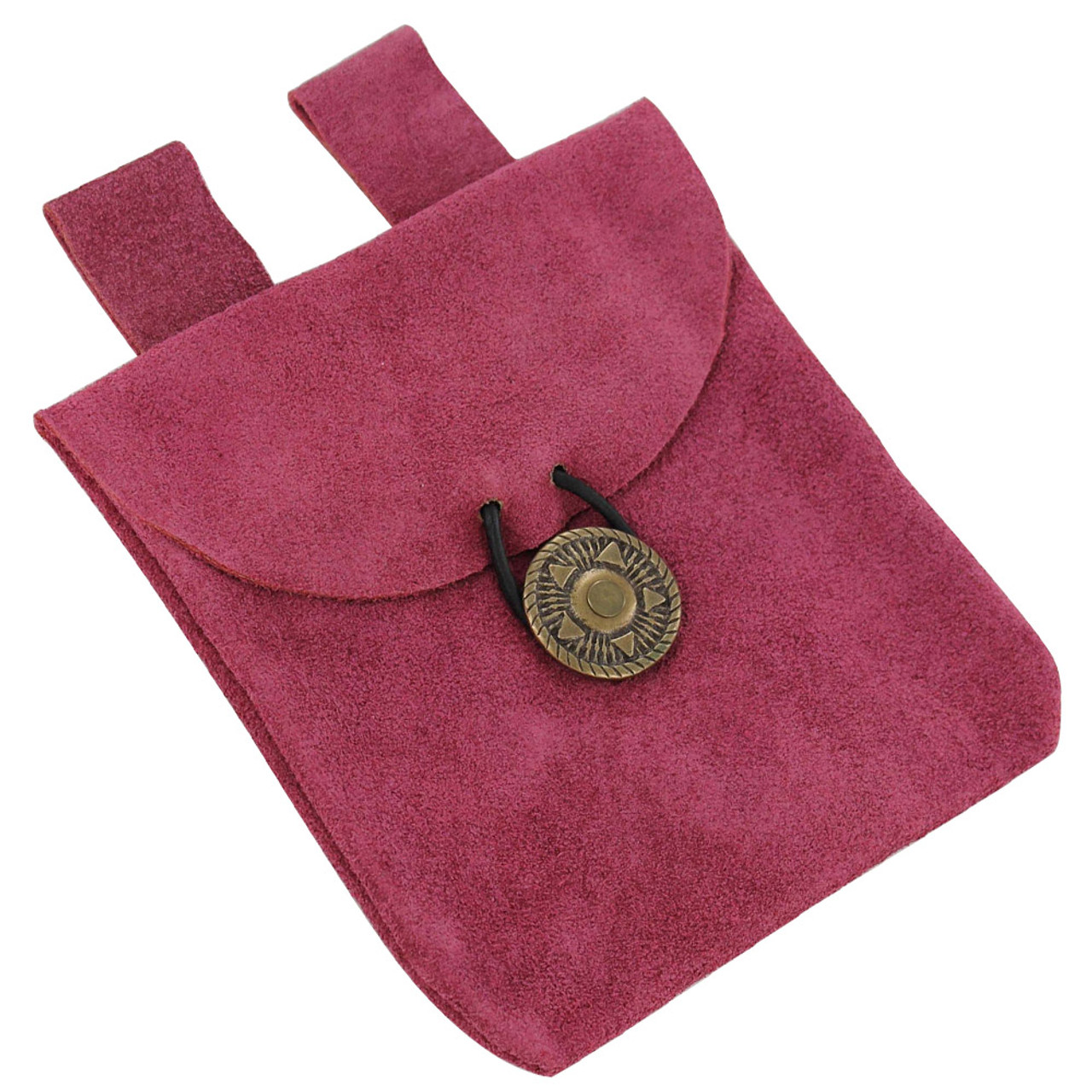 Keen Charisma Pink Suede Leather Pouch