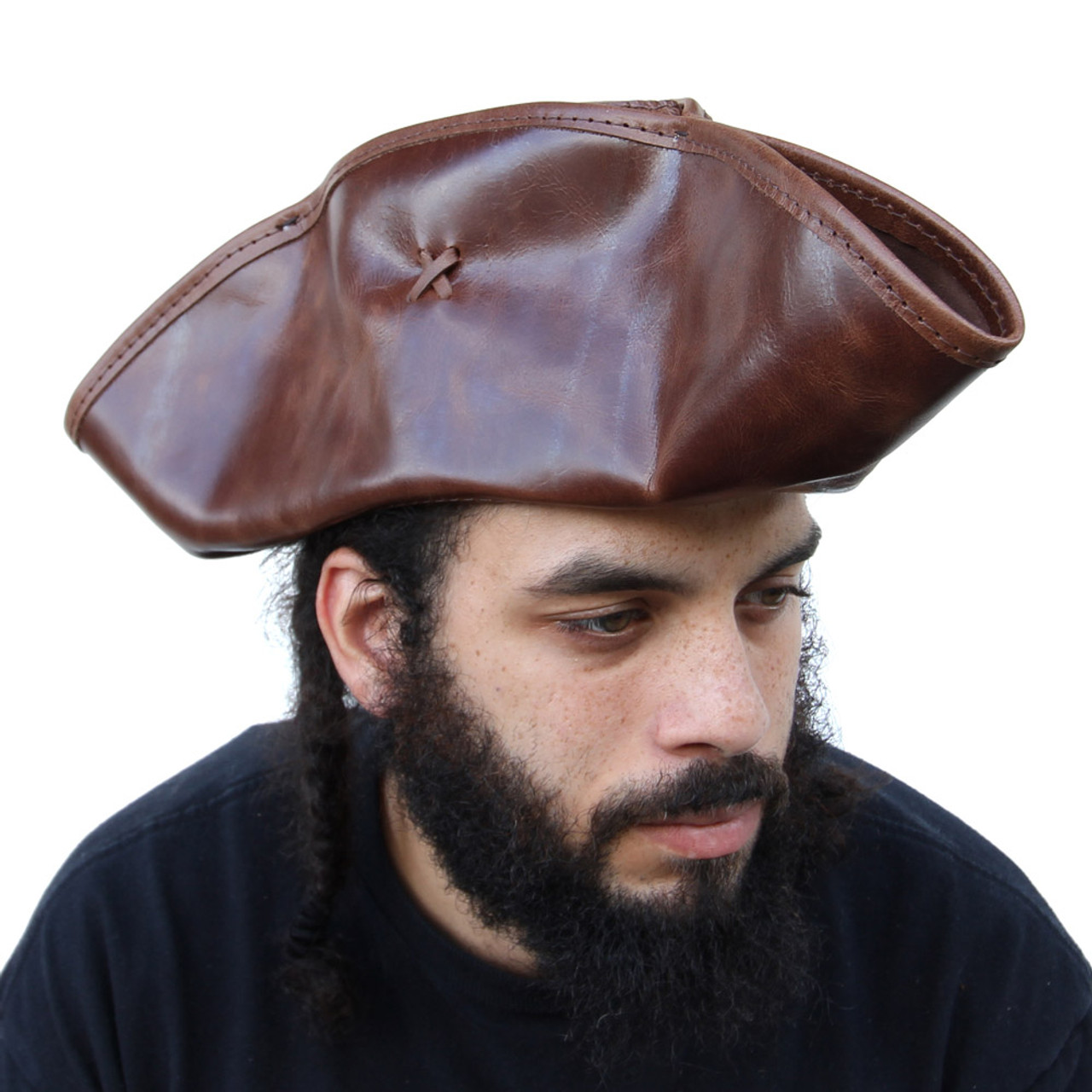 Leather Tricon Port Royal Pirate Hat