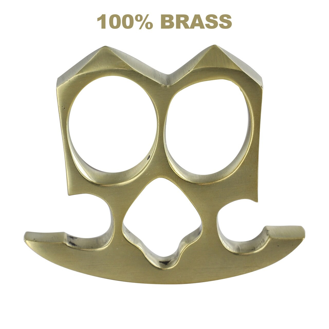 Two Finger Double Knuckle Pure Brass Paper Weight Knuckleduster