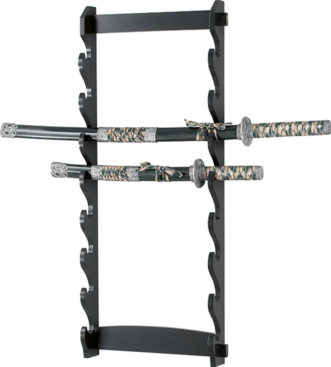 Eight Tier Wall Mount Sword Stand