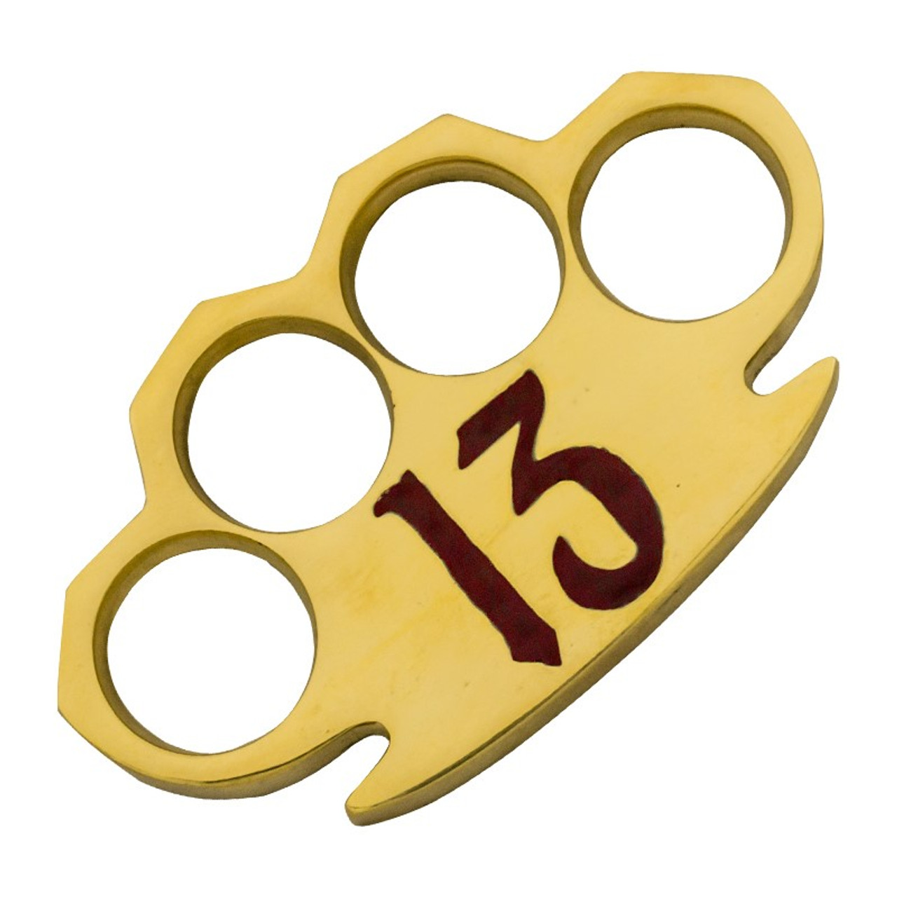 Dalton 10 OZ Real Brass Knuckles Buckle Paperweight - Heavy Duty Red 13