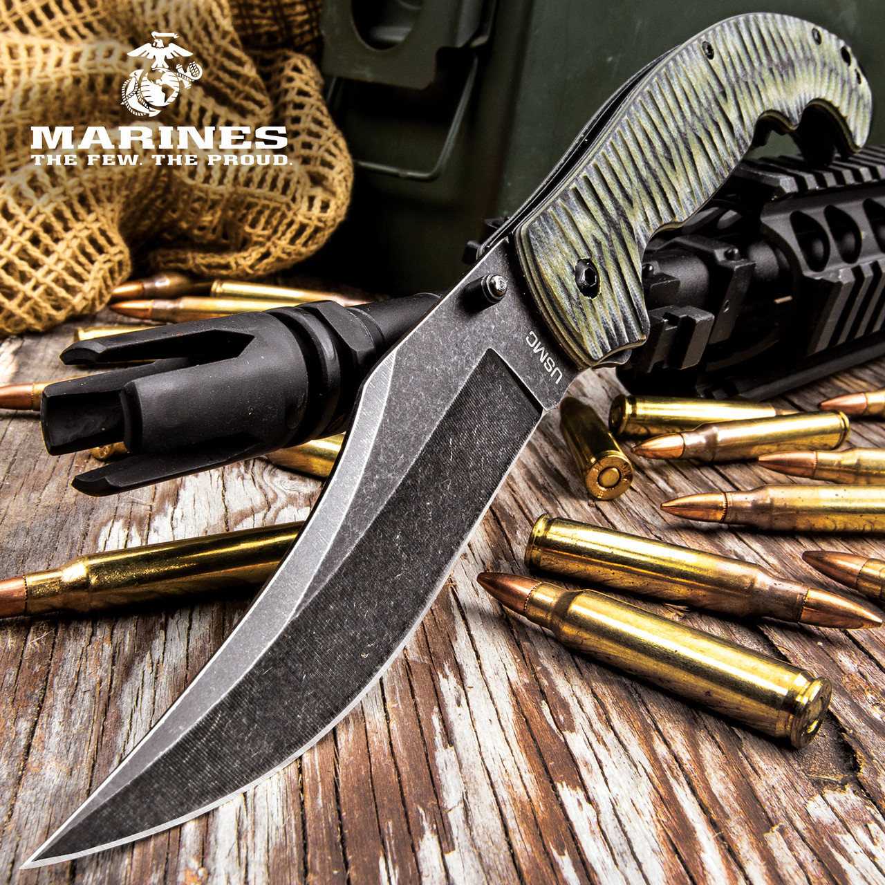 USMC Fallout Assisted Opening Tactical Pocket Knife