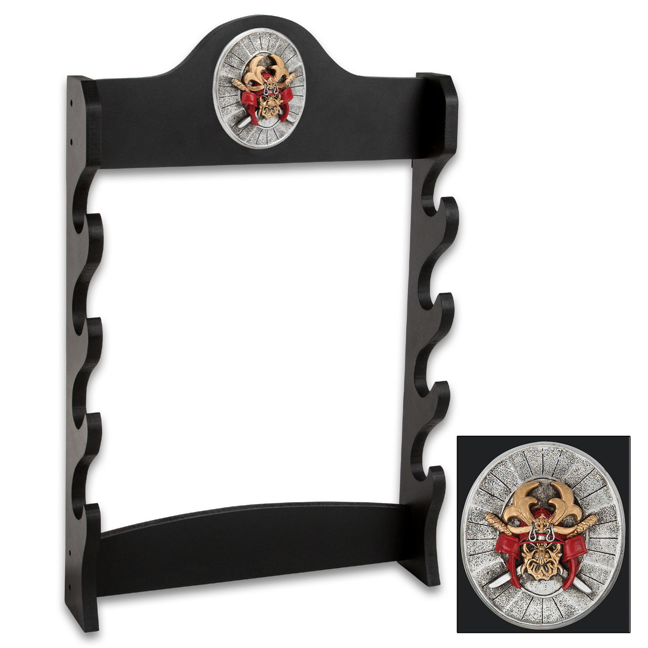 Sword Stand With Medallion - Displays 4 Swords