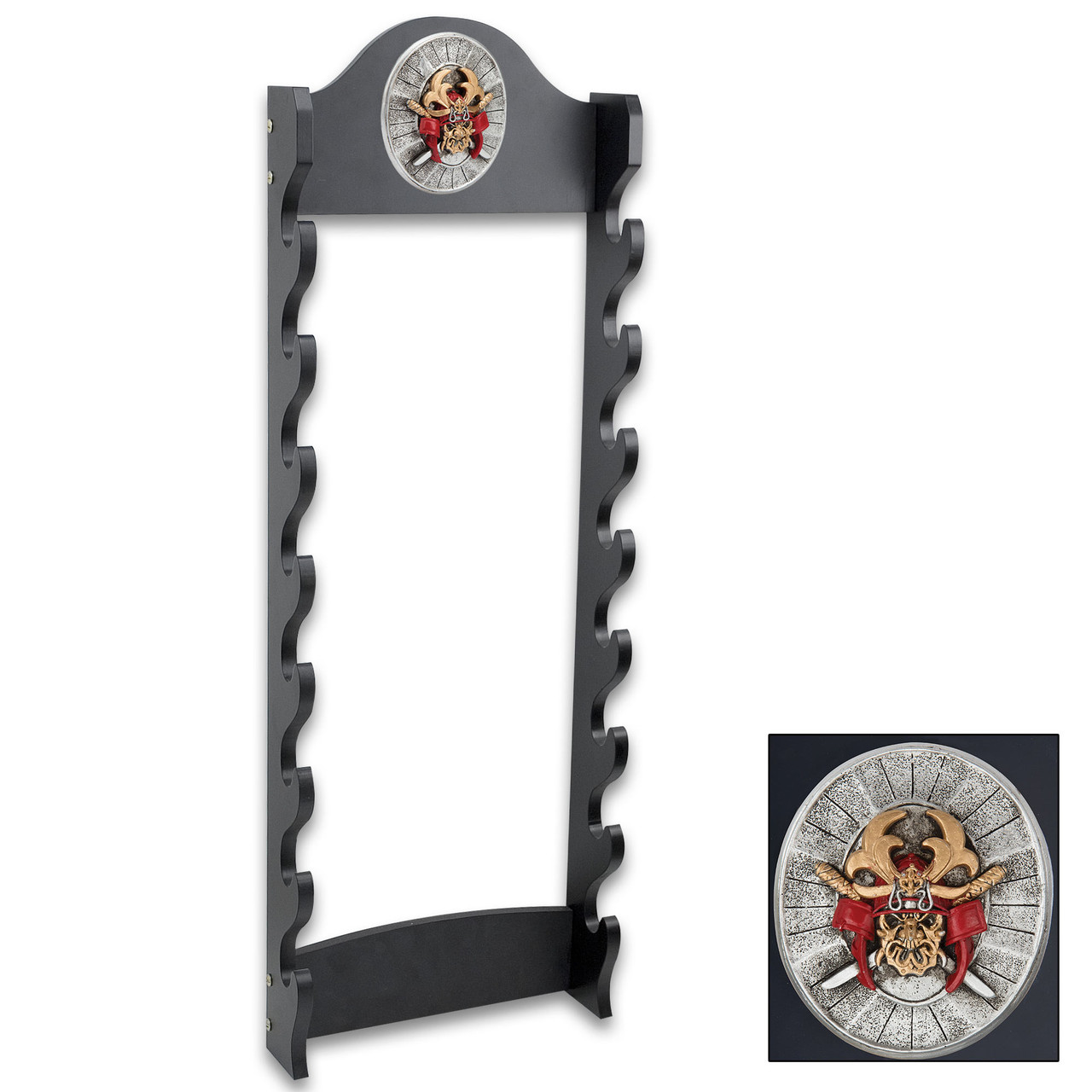 Sword Stand With Medallion - Displays 8 Swords