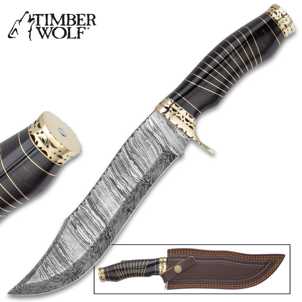 Timber Wolf Anubis Fixed Blade Knife With Sheath