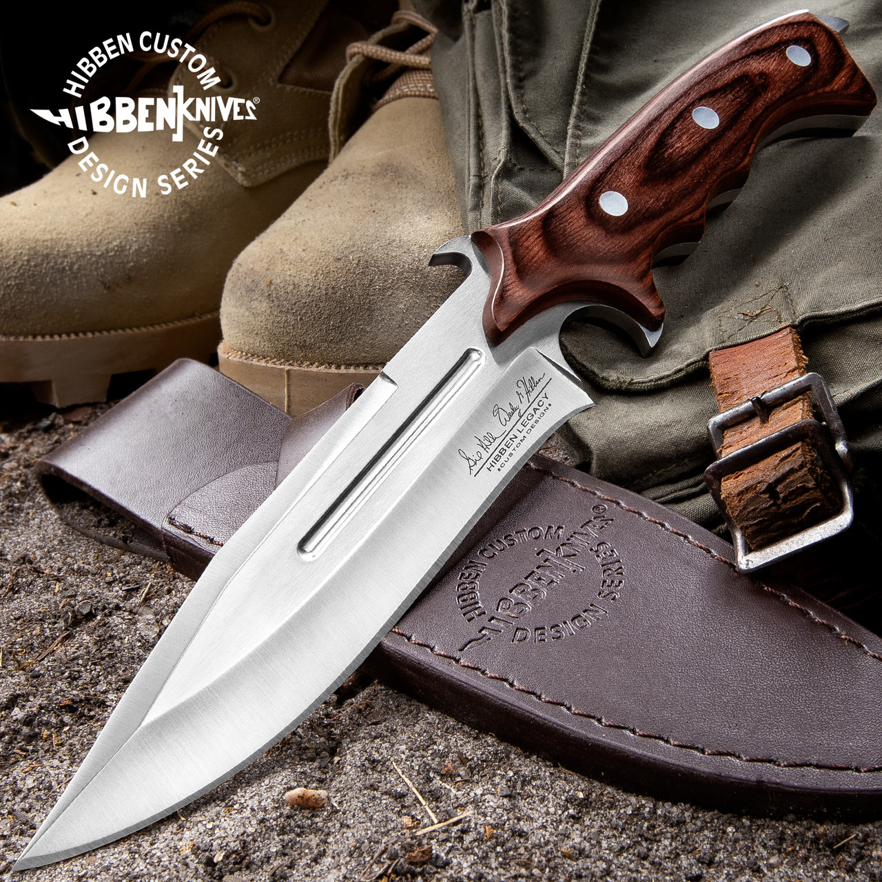 United Cutlery Hibben Legacy Combat Fighter Knife II With Leather Sheath