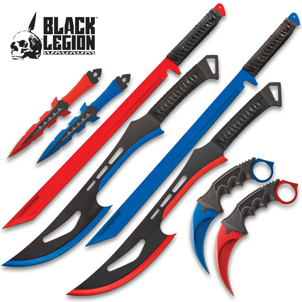 Fire And Ice Battle Set - Stainless Steel Blades w/ Sheaths