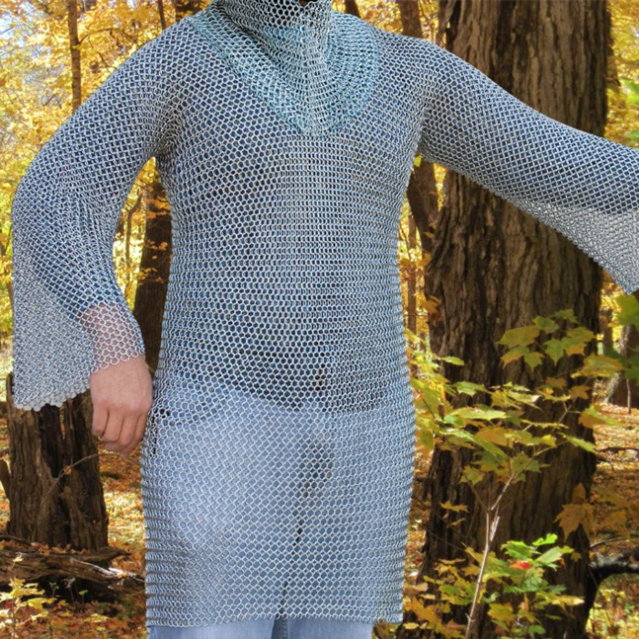 18 Gauge Chain Mail Shirt for Middle Ages Knight ONLY 1