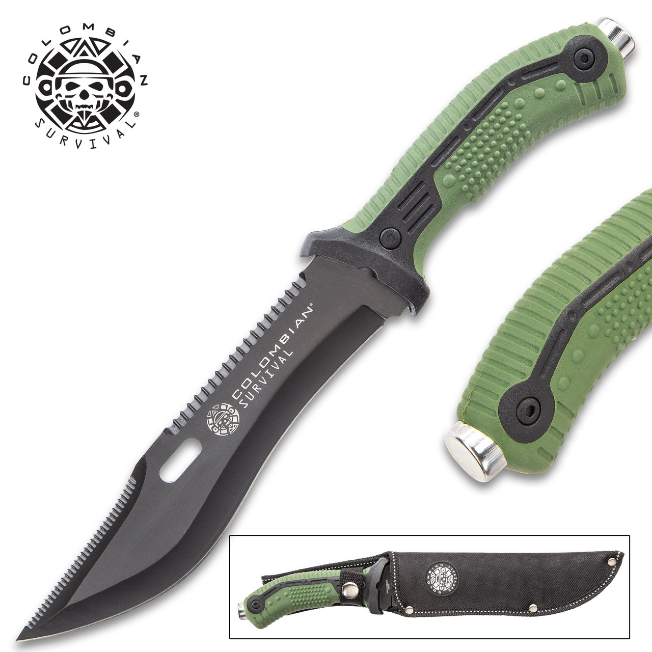 Colombian Bogota Survival Fixed Blade Knife With Sheath