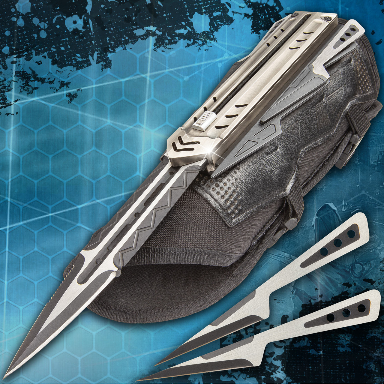The Enforcer Tactical Gauntlet And Throwing Knives