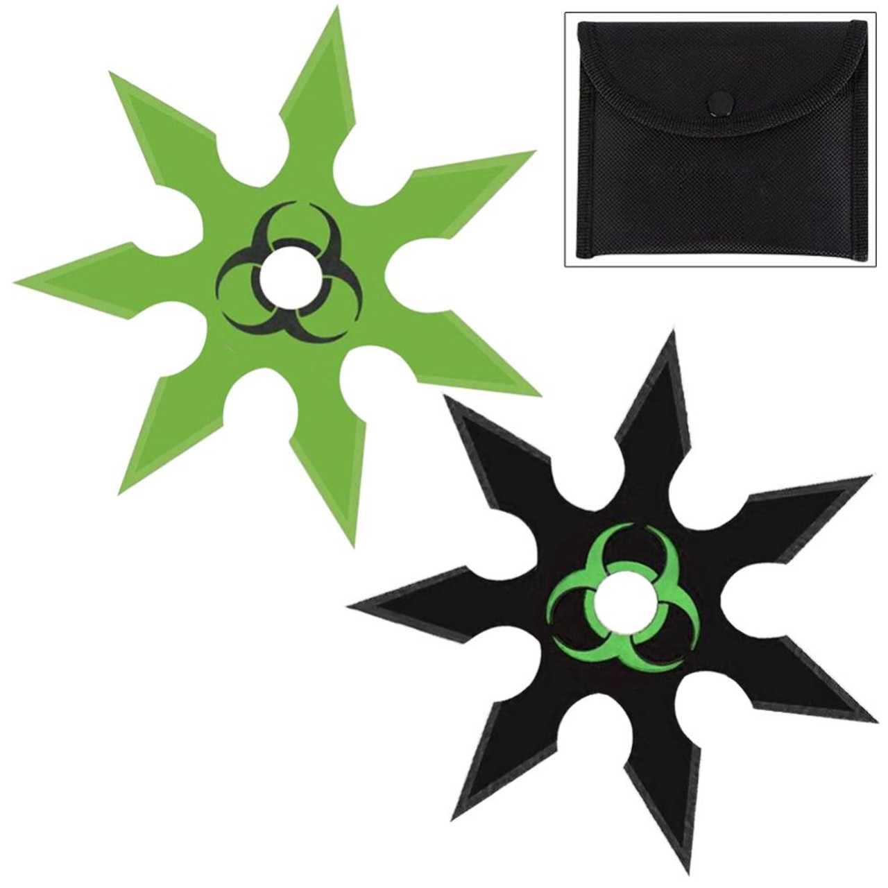 Extreme Toxic Death 7 Point Heavy Duty 2 Piece Throwing Star Set
