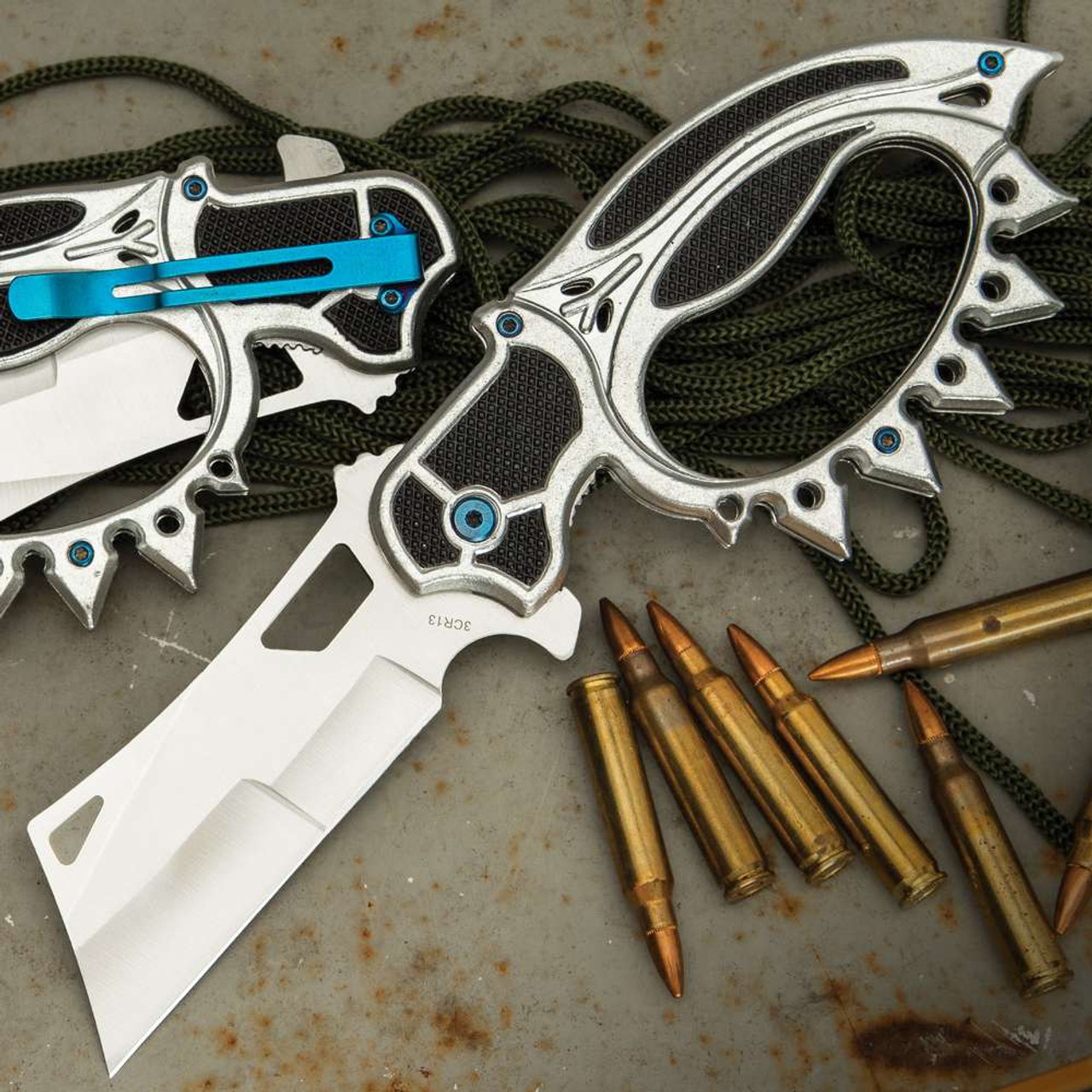 Silver Road Warrior Folding Trench Knife