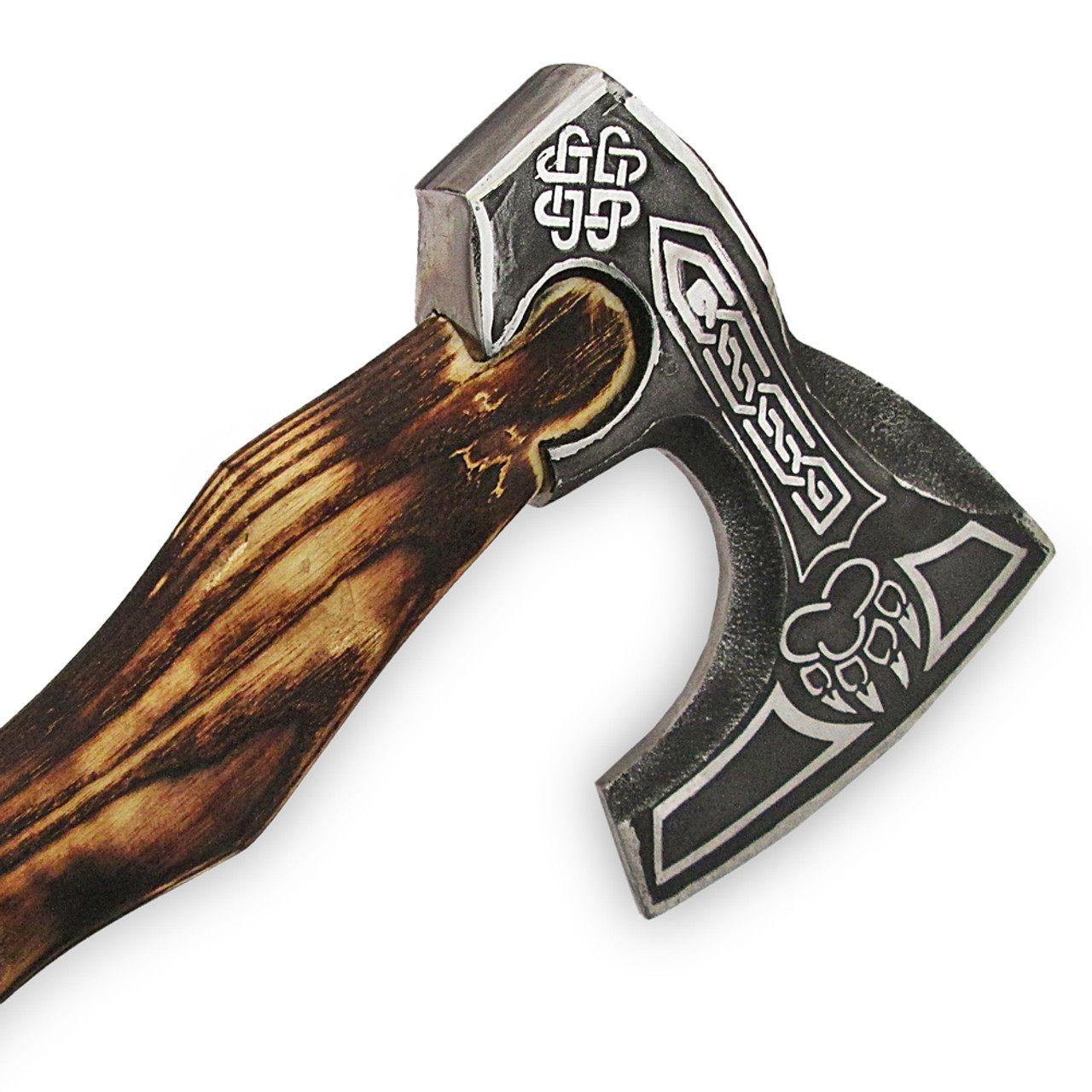 Claw Axe Hand forged Carved Etched Axe
