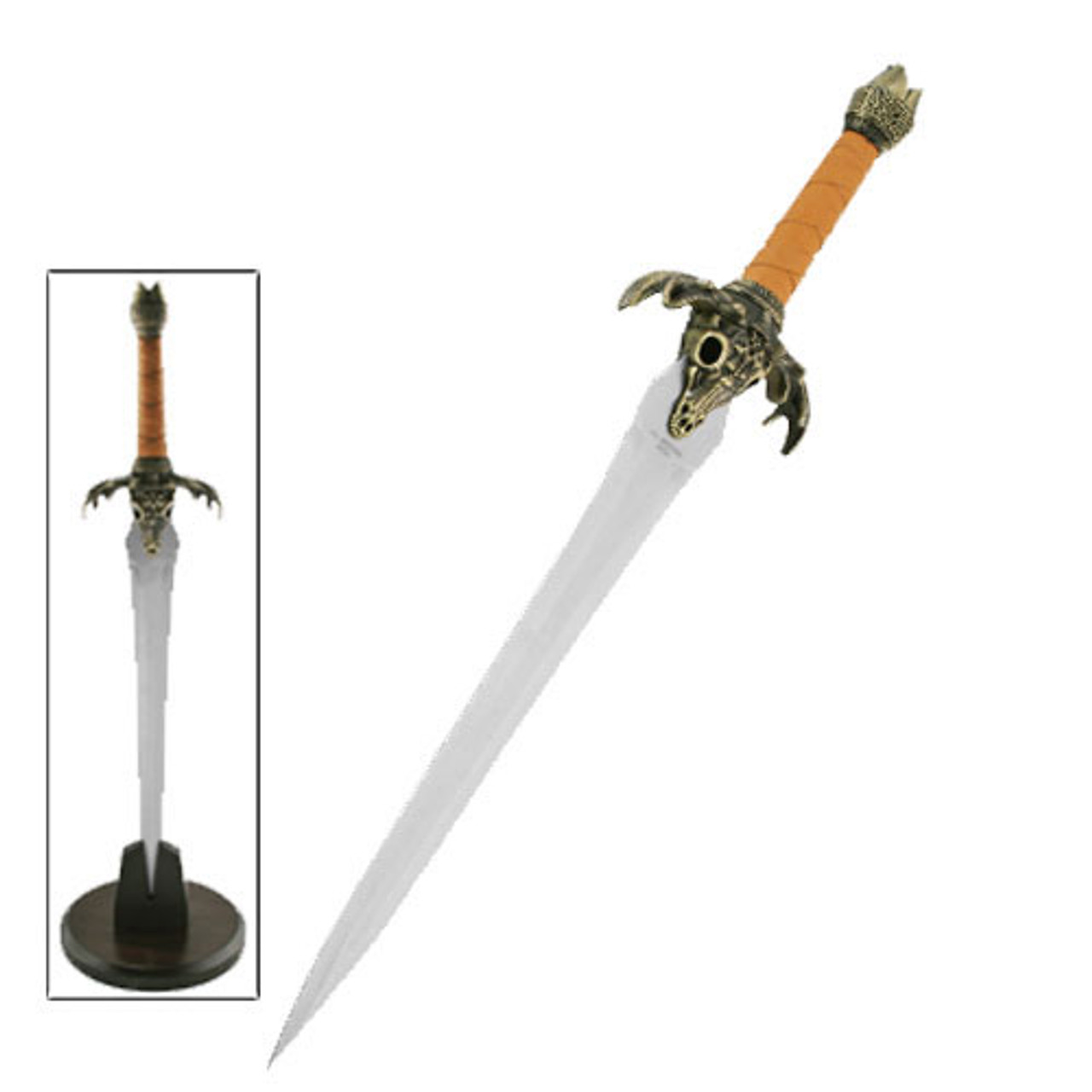 Conan Fathers Sword Dagger Display Replica with Table Stand
