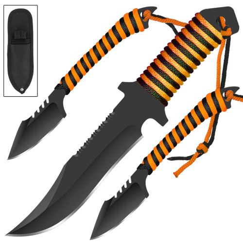 Tiger on the Prowl Hunting & Throwing Knife Set