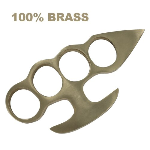 Brass Knuckleduster Novelty Paper Weight Accessory