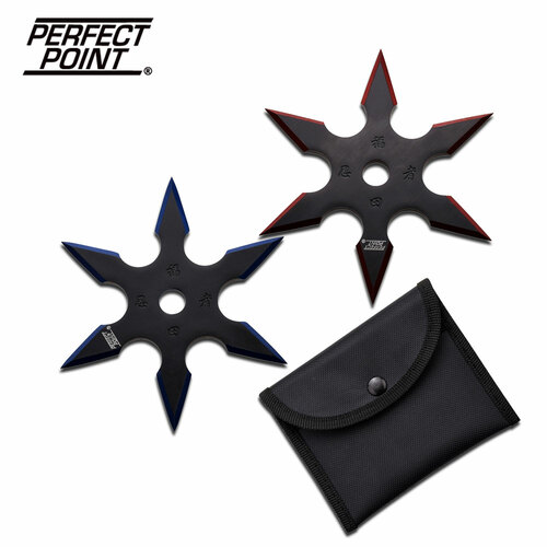 """PERFECT POINT 90-16BR-2 THROWING STAR SET 4"""" DIAMETER"""