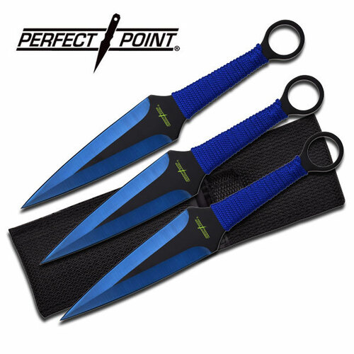 """PERFECT POINT PP-869-3BL THROWING KNIFE SET 9"""" OVERALL"""