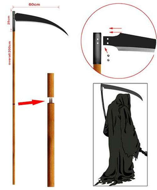 80 Inch Overall The Grim Reaper Death Scythe