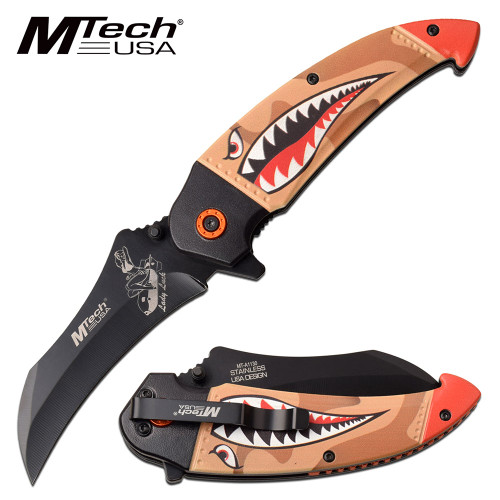 MTECH USA  SPRING ASSISTED KNIFE SHARK/ LADY LUCK