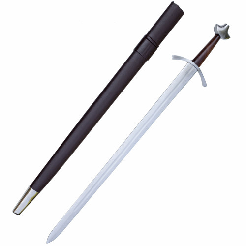 Medieval Battle Combat Sword With Scabbard