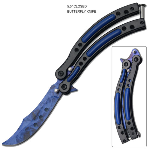 Blue Ice Tactical Butterfly Knife Limited Edition.